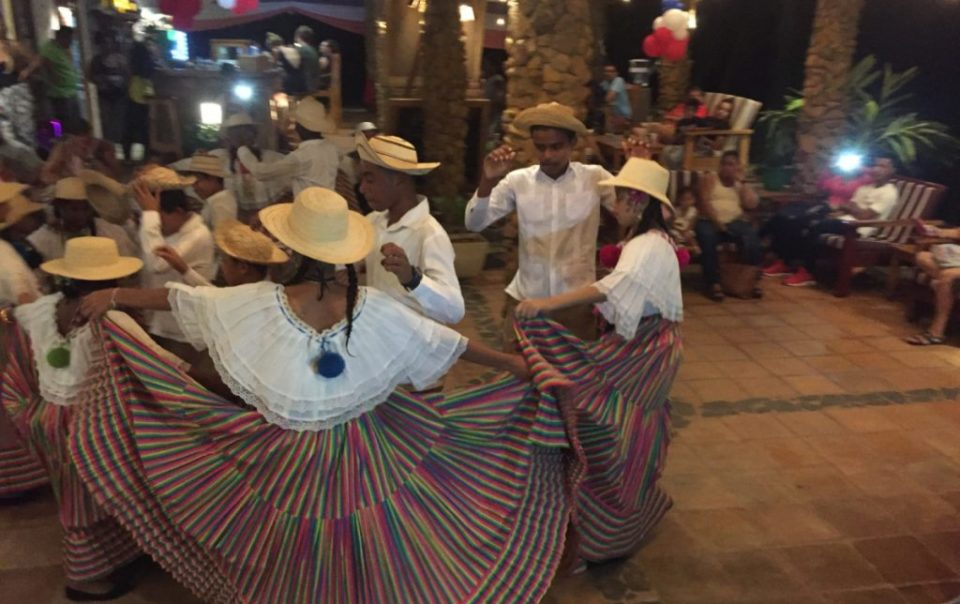 national day party in hotel Santa Catalina with tipical folklore dancers