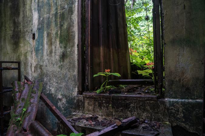 Dentro del penal Isla Coiba