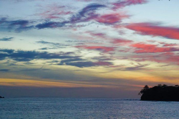 Hermosa puesta de sol desde el hotel Santa Catalina