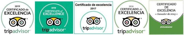 certificado-excelencia-tripadvisor-15-16-17-18-19 fondo blanco